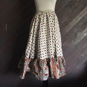 Vintage Western Ruffled Skirt